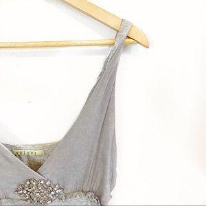 Velvet Brand Silk Embellished Tank Top